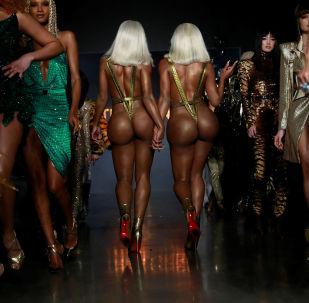 Las hermanas Clermont en la Semana de la Moda de Nueva York.