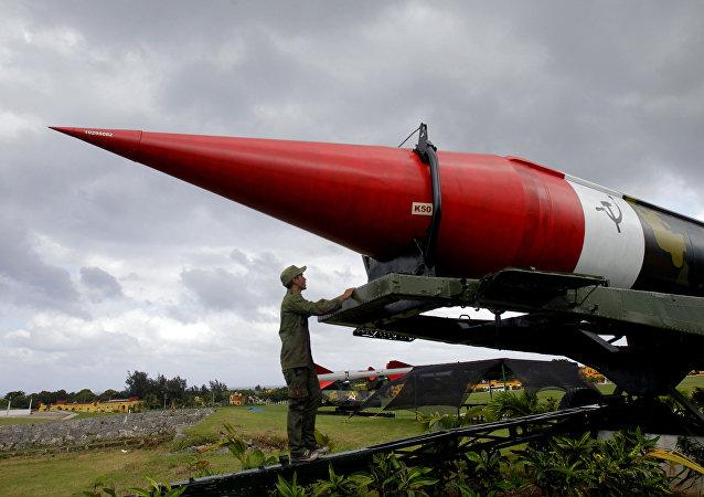 Misil soviético de los tiempos de la crisis de los misiles del Caribe (archivo)