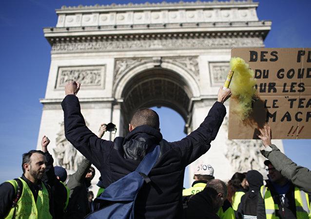 Protestas de loa 'chalecos amarillos' en París