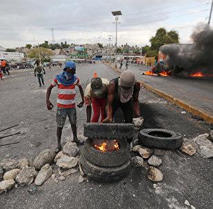 Protestas en Haití