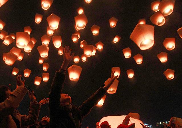 Así festeja Taiwán el impresionante Festival de las Linternas