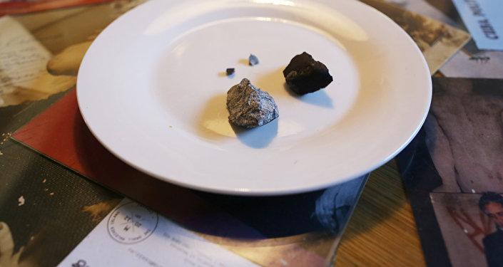 Fragmentos del meteorito que cayó en Cuba