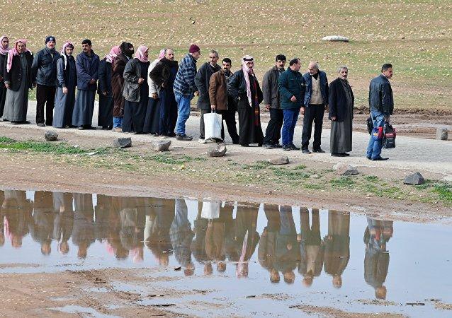 Refugiados sirios (imagen referencial)