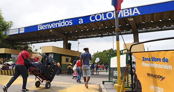Paso fronterizo en Cúcuta