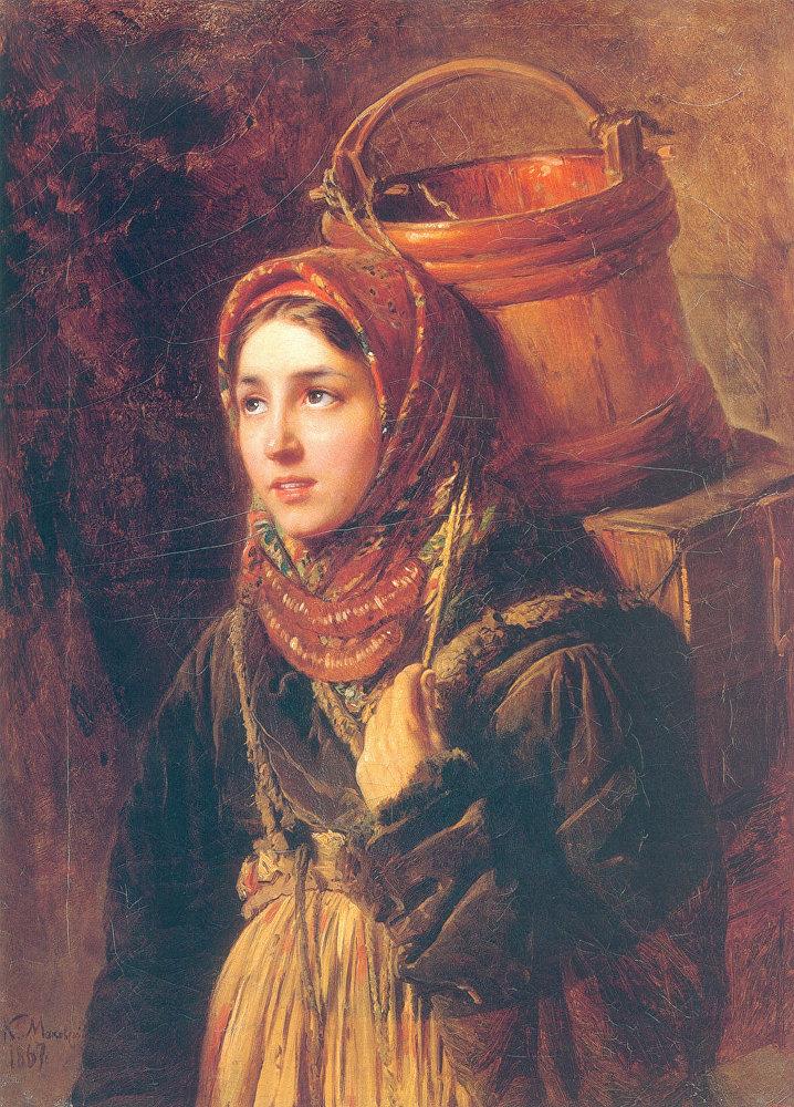 Konstantín Makovski 'La vendedora de arenque' 1867