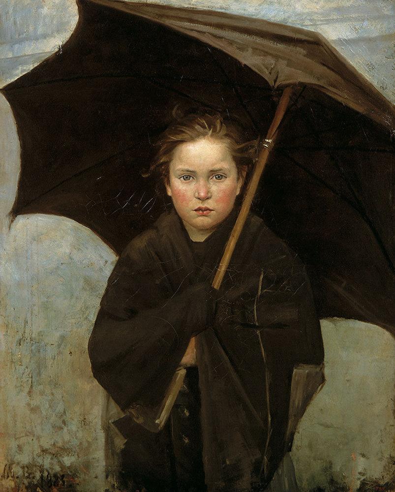 María Bashkirtseva 'El paraguas' 1883