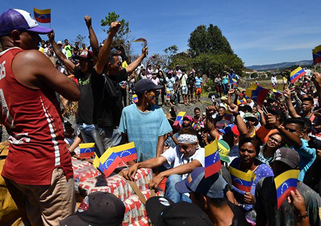 Situación en Pacaraima (Brasil), frontera entre Brasil y Venezuela