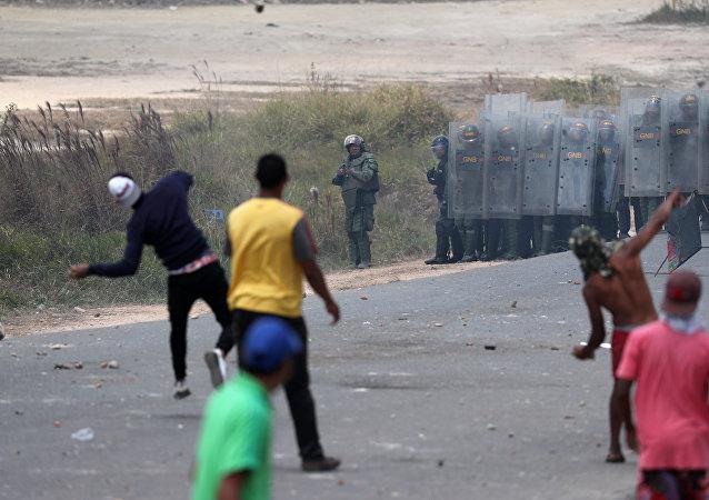 Situación en la frontera entre Venezuela y Brasil (24 de febrero)