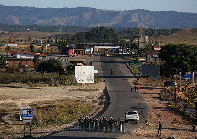 La frontera entre Brasil y Venezuela