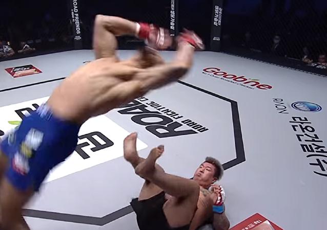 El combate de Michel Pereira  con Dae Sung Kim