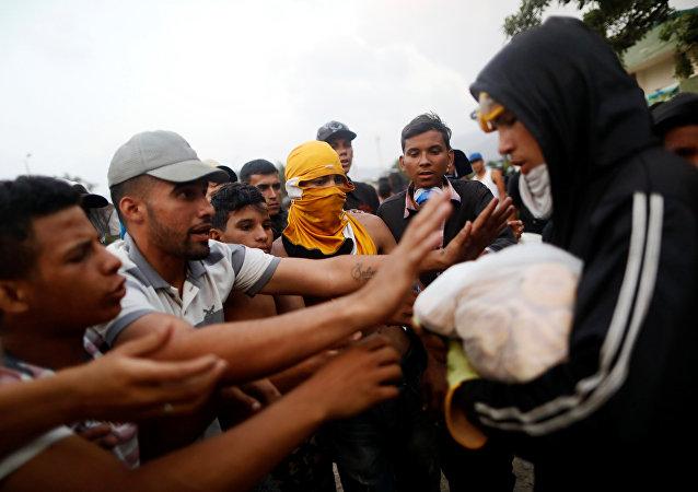 Opositores venezolanos en Cúcuta, Colombia
