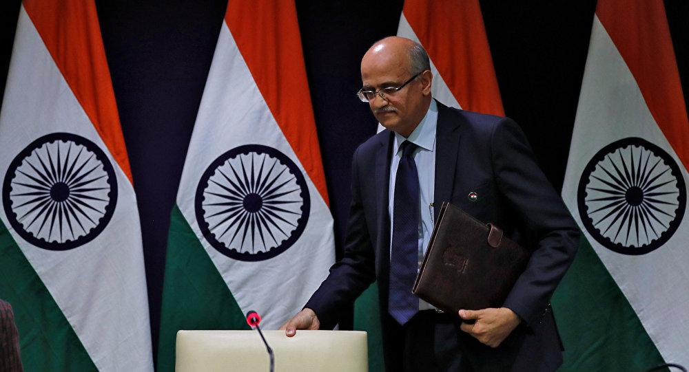 Vijay Keshav Gokhale, secretario de Exteriores de la India