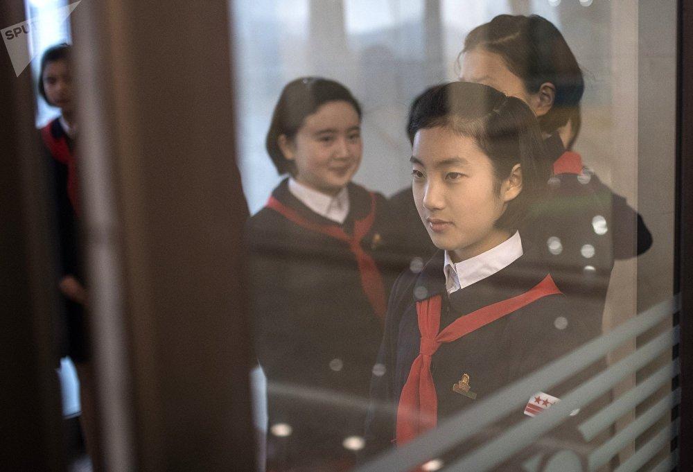 Alumnas norcoreanas