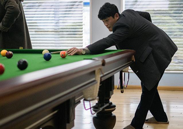 Una sala de billar en Pyongyang