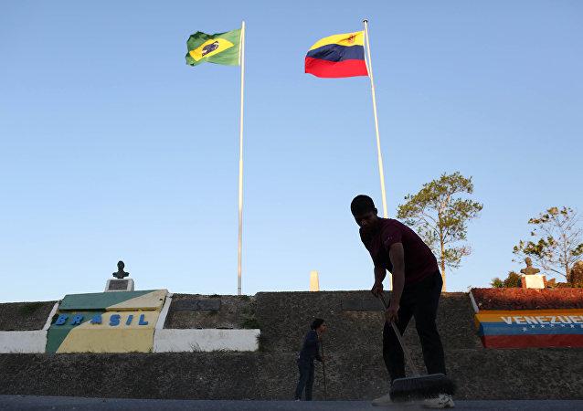 La frontera entre Venezuela y Brasil en Pacaraima