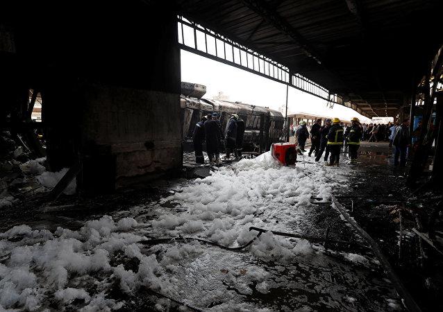 El descarrilamiento de un tren en El Cairo