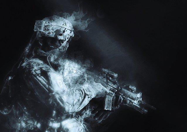 Silueta de un soldado