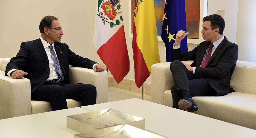 El presidente Martín Vizcarra ofreció una recepción a los reyes de España