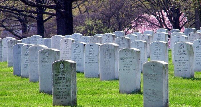 Tumbas en un cementerio de EEUU