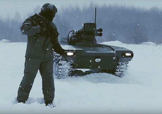 Robot blindado ruso Marker
