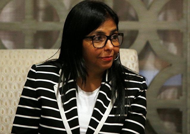 Delcy Rodríguez, la vicepresidenta de Venezuela