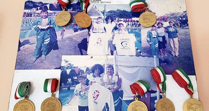 Las medallas de María Eugenia Walls Galindo