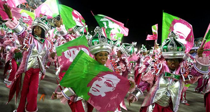 Una escuela de samba dedica el homenaje a Marielle Franco durante el Carnaval