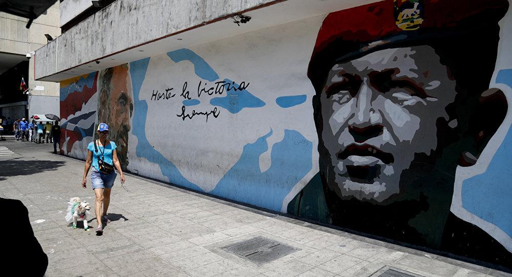 Gráfiti de Hugo Rafael Chávez Frías, expresidente de Venezuela