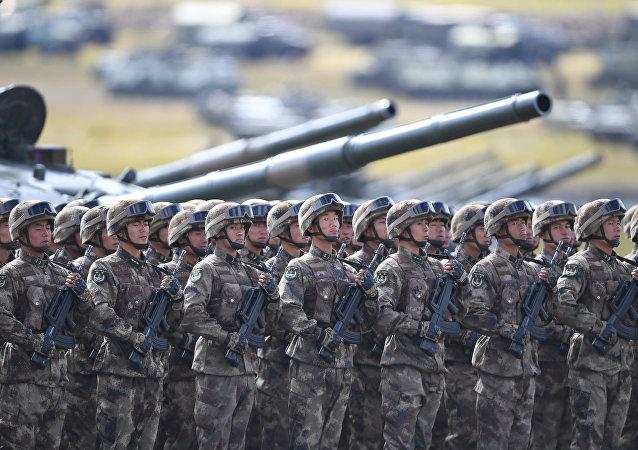 Militares chinos durante las maniobras Vostok 2018 que se celebran en Rusia