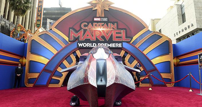 La alfombra roja en el estreno mundial de Capitana Marvel