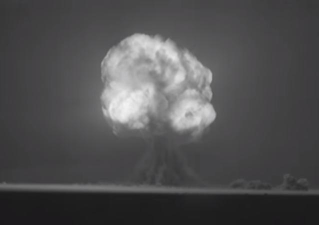 Exploción de la Trinity, la primera bomba nuclear (archivo)