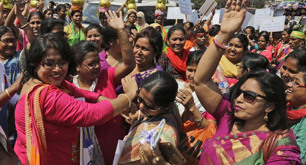 Así celebran el Día de la mujer en la India