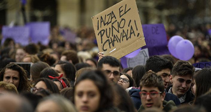 Marcha feminista del Día Internacional de la Mujer en España