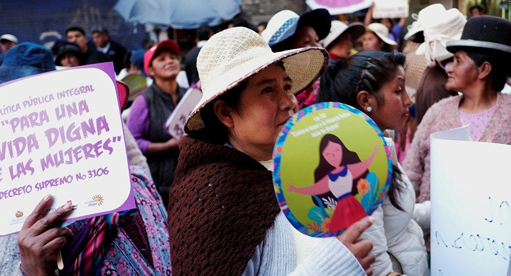 Día Internacional de la Mujer en Bolivia