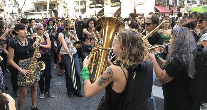 La marcha de las mujeres en Argentina