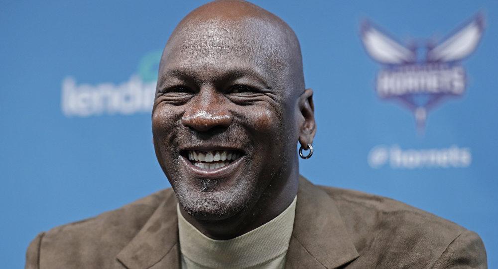 El jugador de baloncesto Michael Jordan
