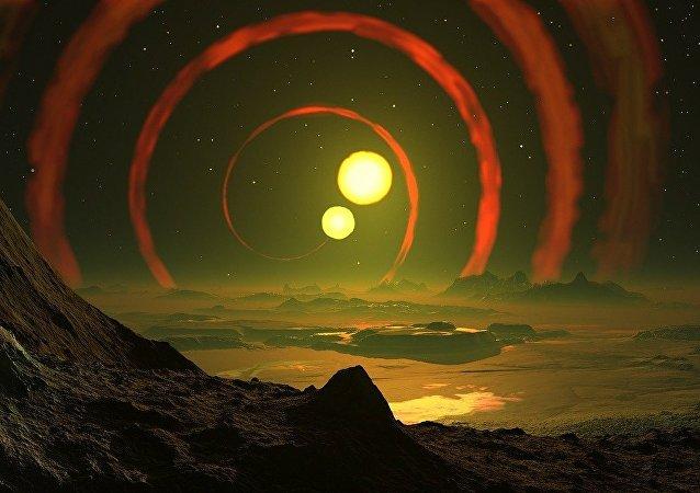 Dos estrellas (ilustración)