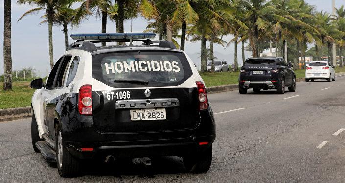 La policía de Brasill, en un condominio donde fue arrestada una sospechosa del asesinato de la activista y concejal Marielle Franco