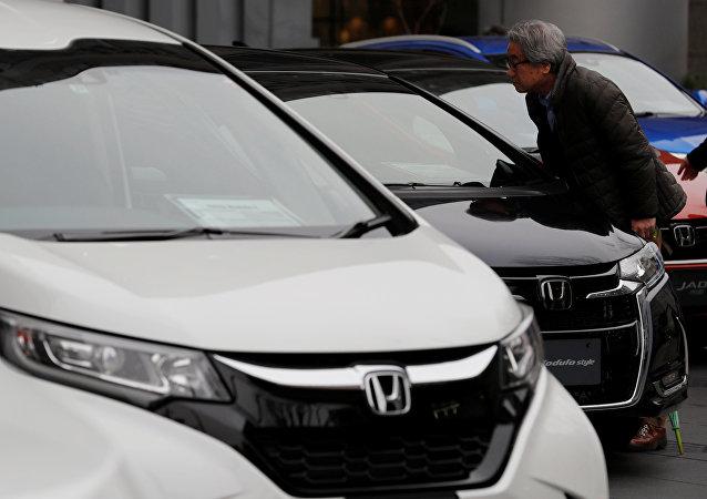 Exhibición de distintos modelos de Honda