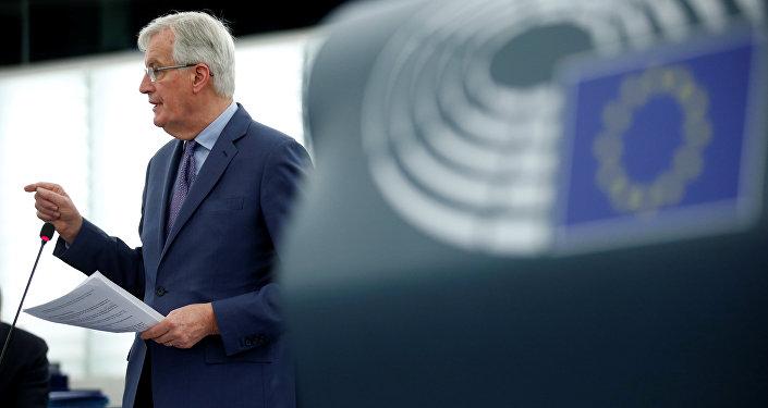 El negociador jefe de la UE para el Brexit, Michel Barnier, en el Parlamento Europeo