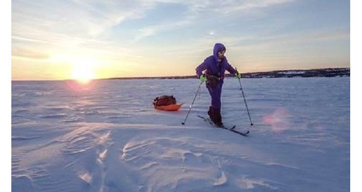 Uno de los montañeros españoles que participan en la expedicion 'Los últimos hielos'