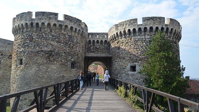 La fortaleza de Kalemegdan en Belgrado, capital de Serbia