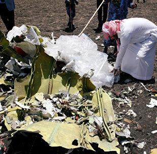 El lugar del siniestro del ET 302 de Ethiopian Airlines