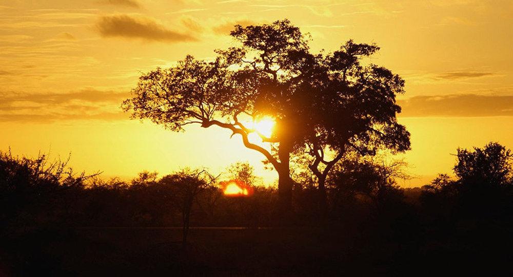 Puesta del sol en Sudáfrica