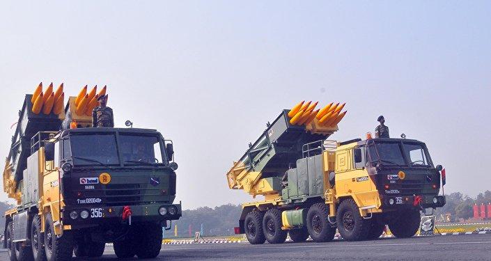 Sistema de misiles múltiple Pinaka, foto archivo