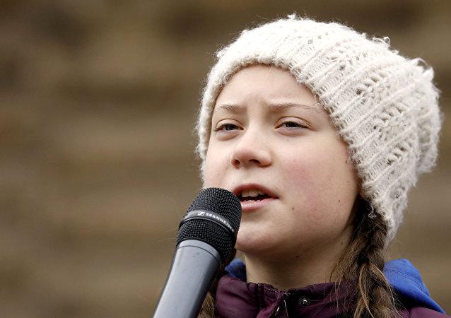 La activista medioambiental sueca de 16 años Greta Thunberg
