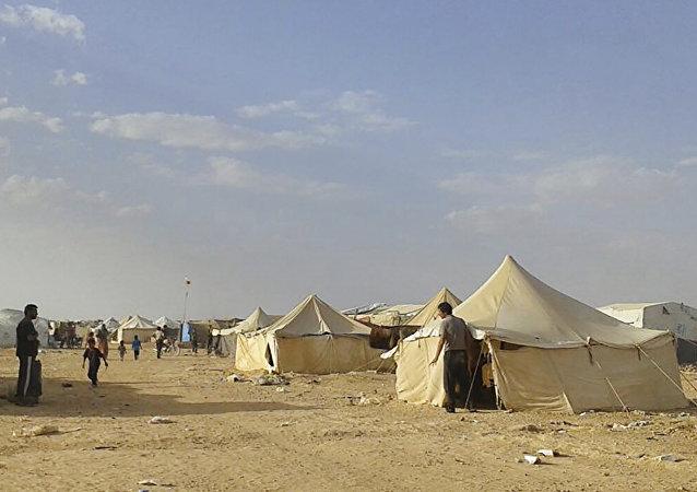 El campo de refugiados Rukban, Siria (archivo)
