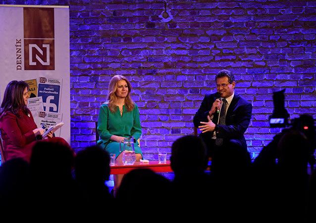 Zuzana Caputová y Maros Sefcovic, candidatos presidenciales de Eslovaquia