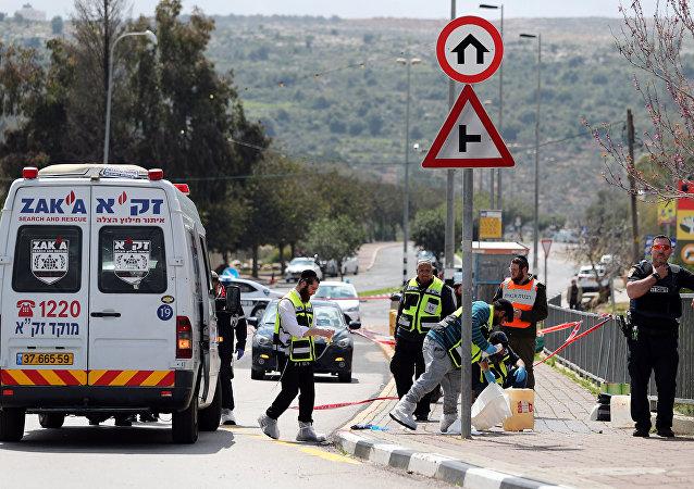 El lugar del ataque en Cisjordania