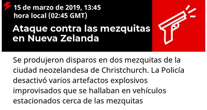 Ataque contra las mezquitas en Nueva Zelanda